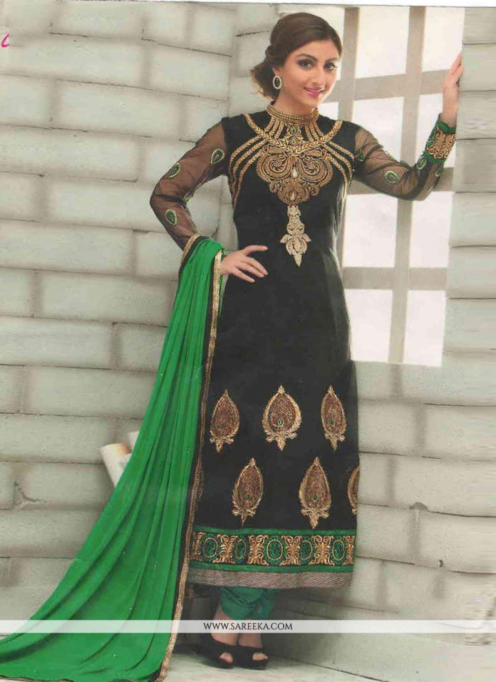 Black Embroidery Salwar Suit