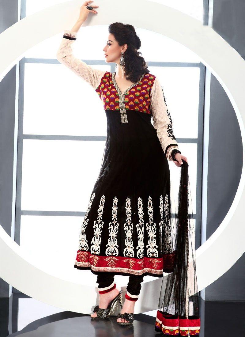 Gorgeous Black Net Pakistani Suit