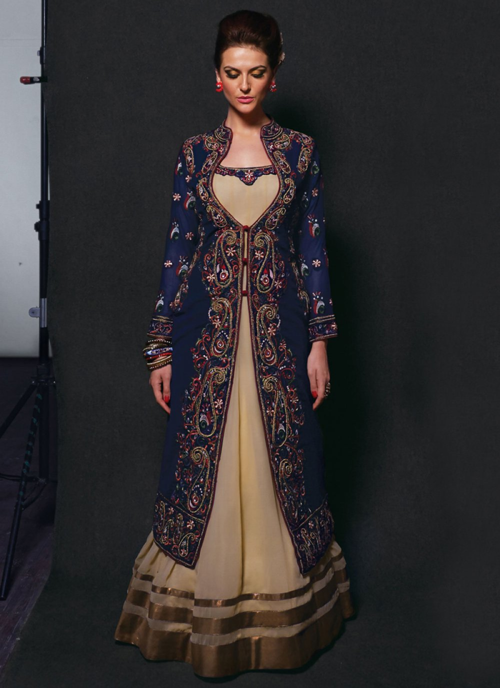 Gorgeous Cream Georgette Anarkali Salwar Suit