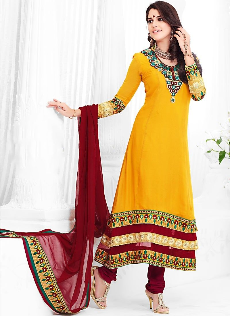 Gorgeous Gold Color Salwar Kameez