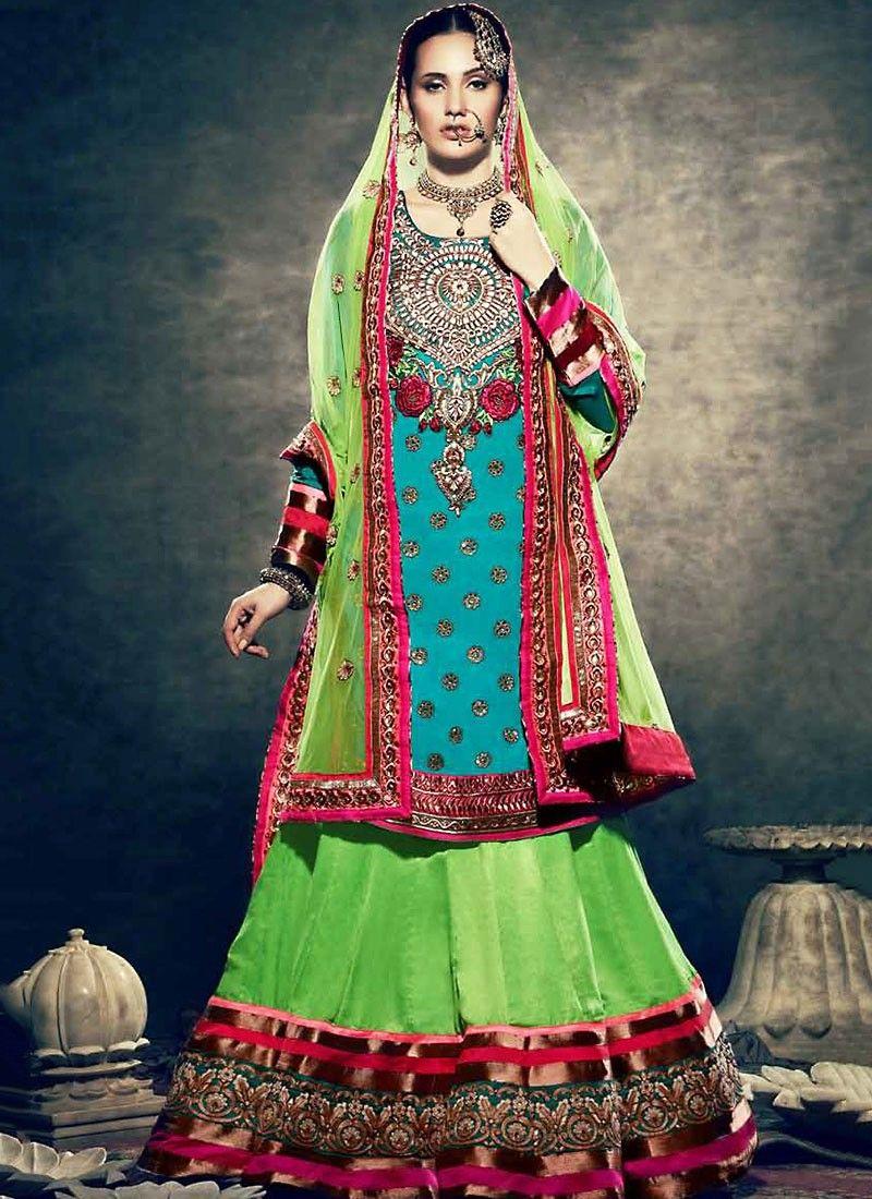 Gorgeous Green Velvet Lehenga Choli