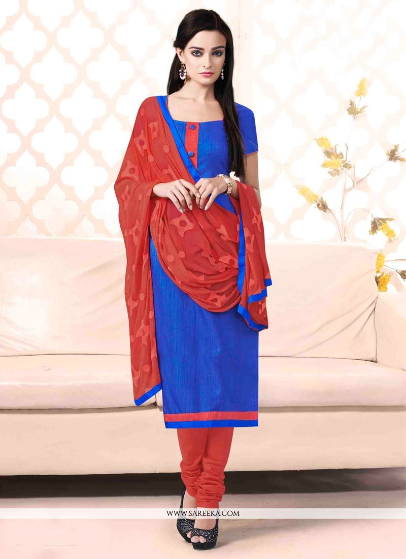 Blue Churidar Salwar Suit