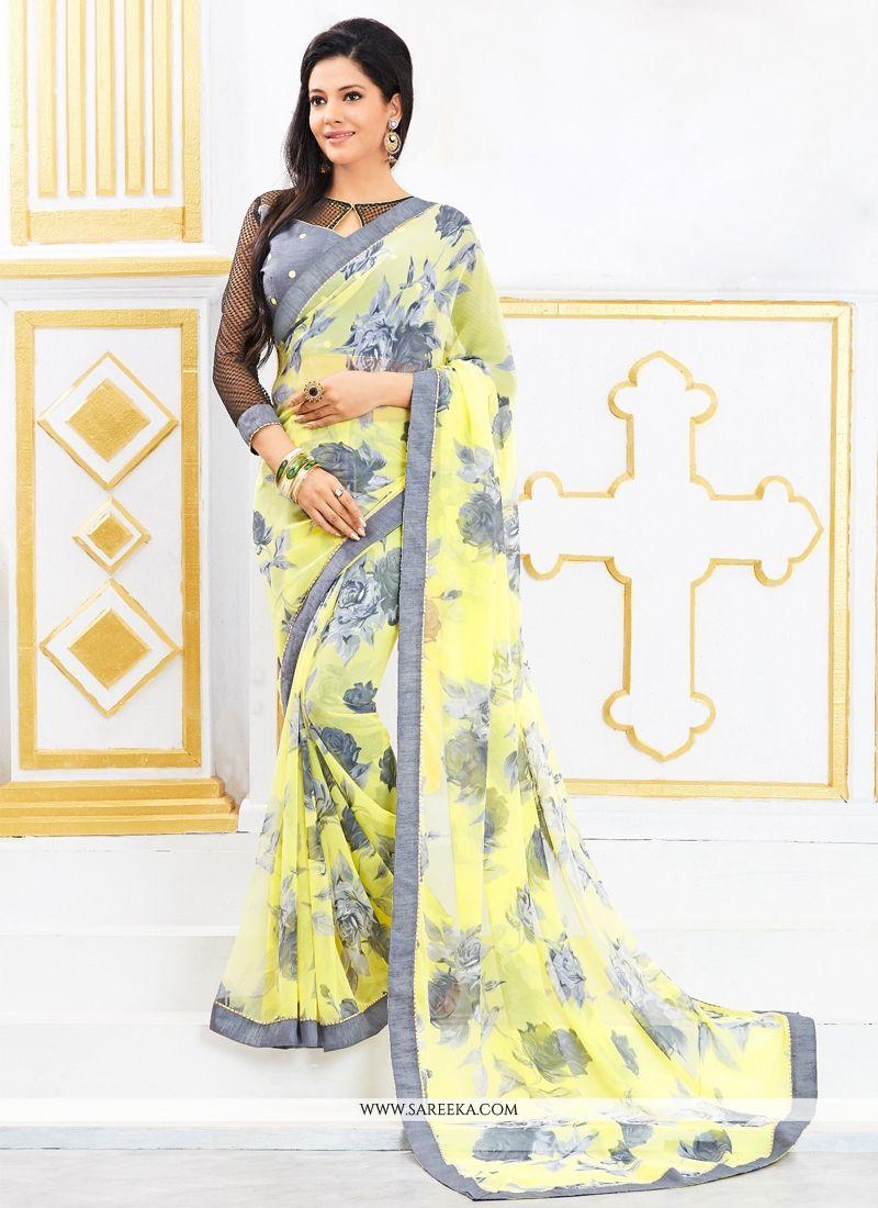 Yellow Casual Saree