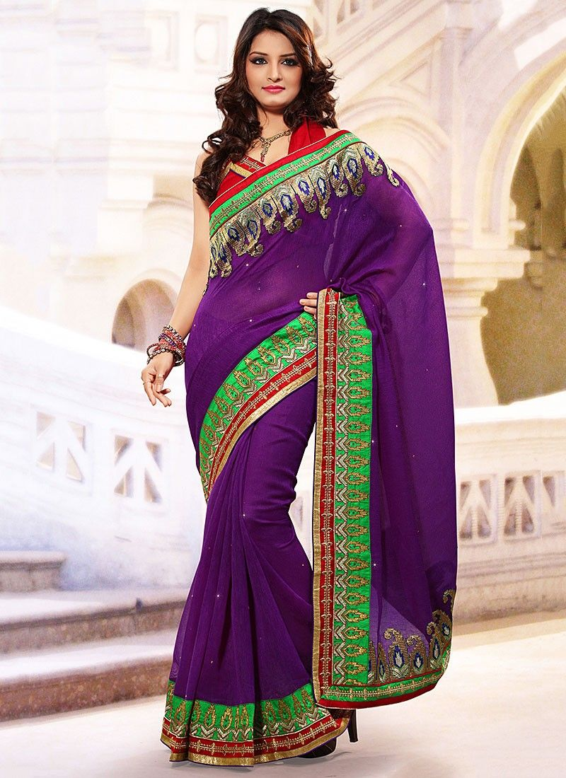 Purple Linen Jute Silk Saree