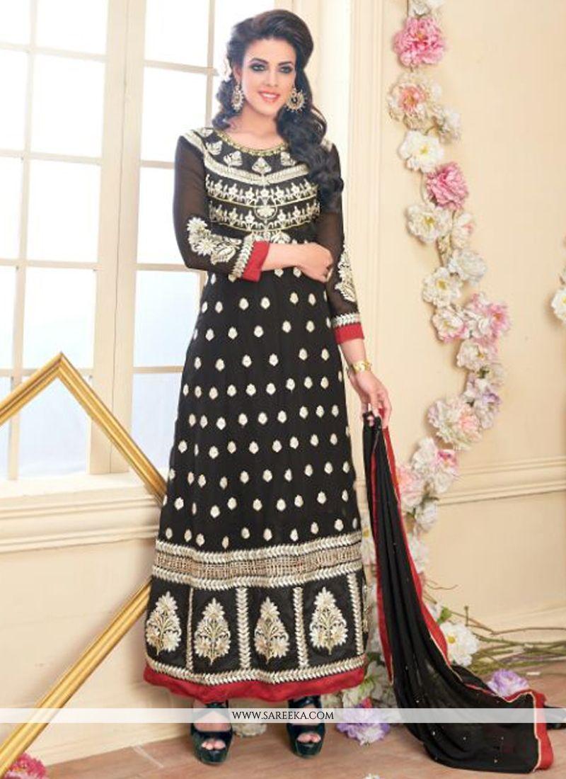 Resham Work Georgette Anarkali Suit