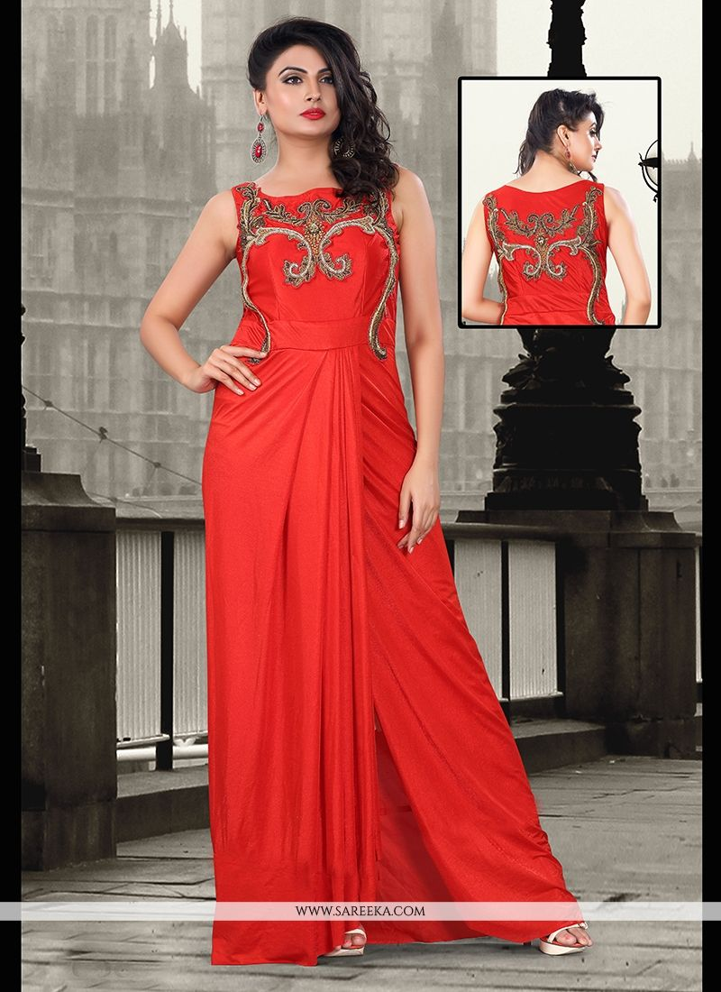 Zari Work Floor Length Gown