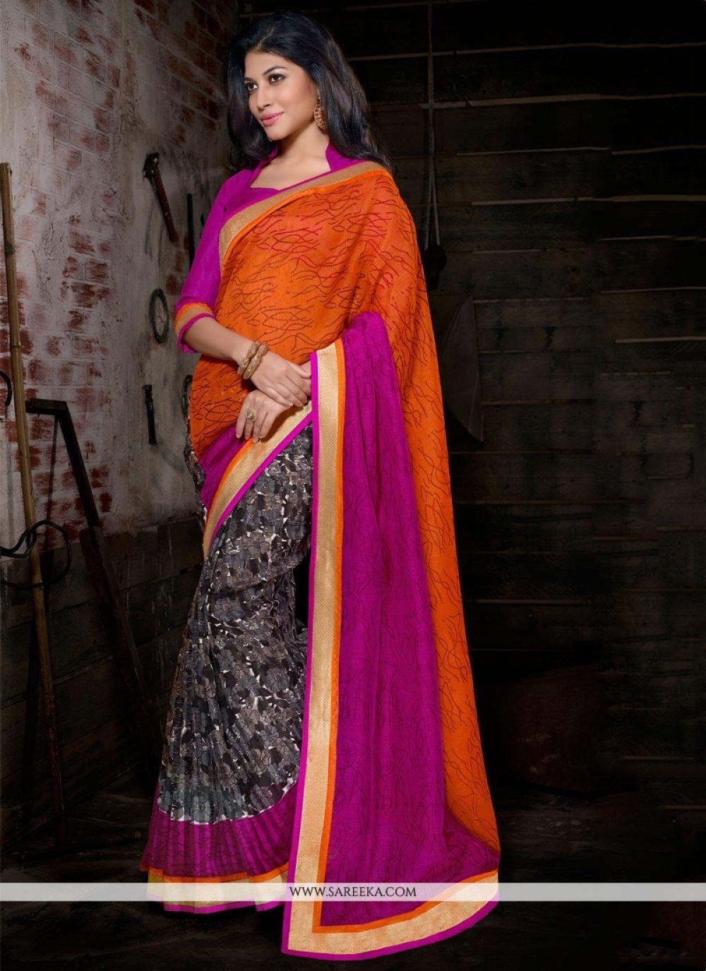 Bhagalpuri Silk Print Work Casual Saree