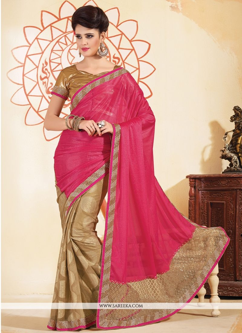Lace Work Brasso Designer Saree