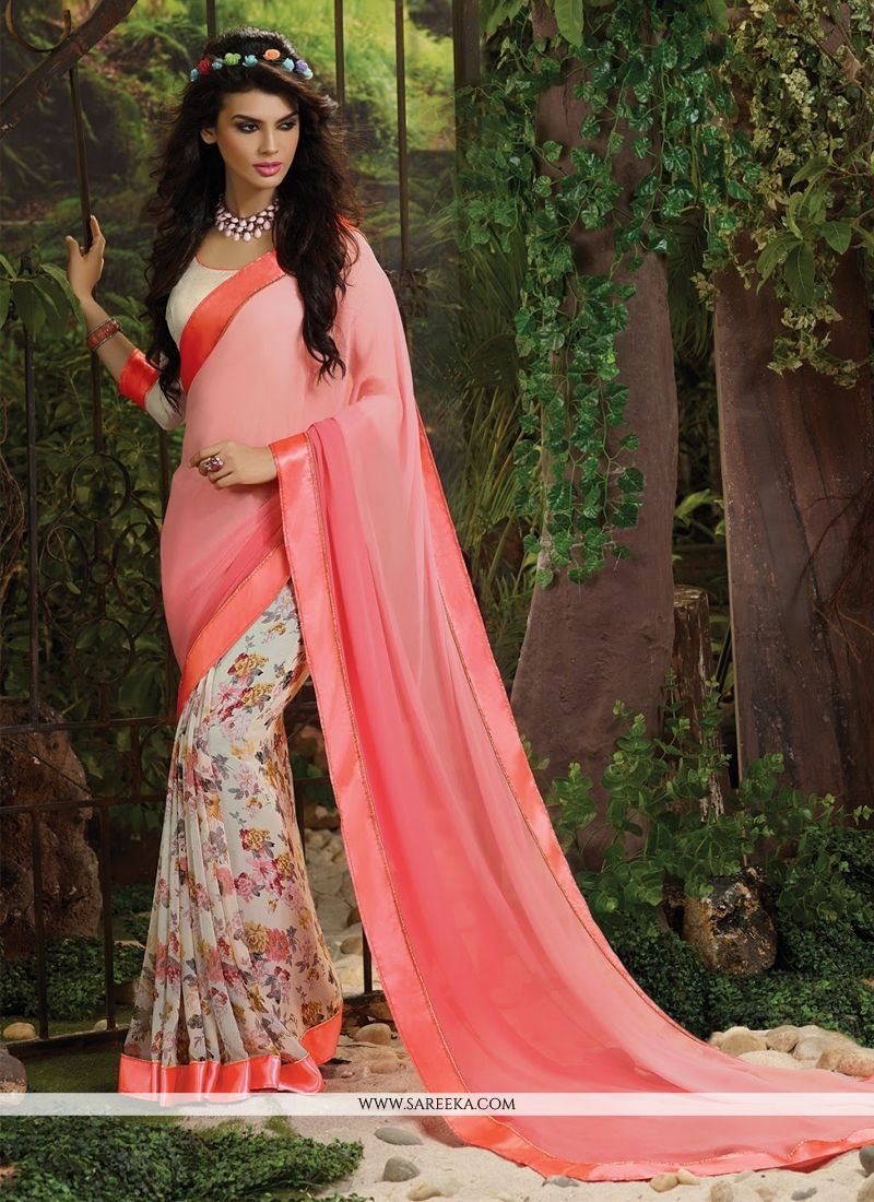 Pink Weight Less Casual Saree