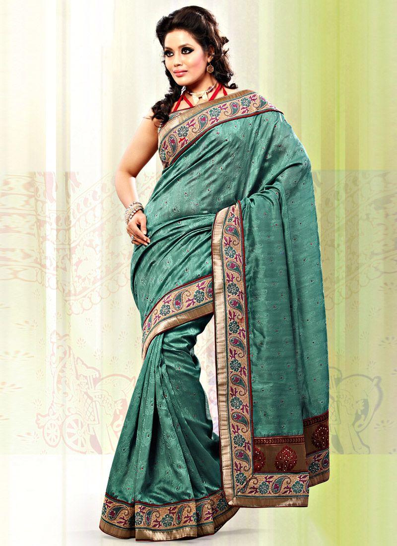 Green Art Bhagalpuri Jacquard Silk Saree