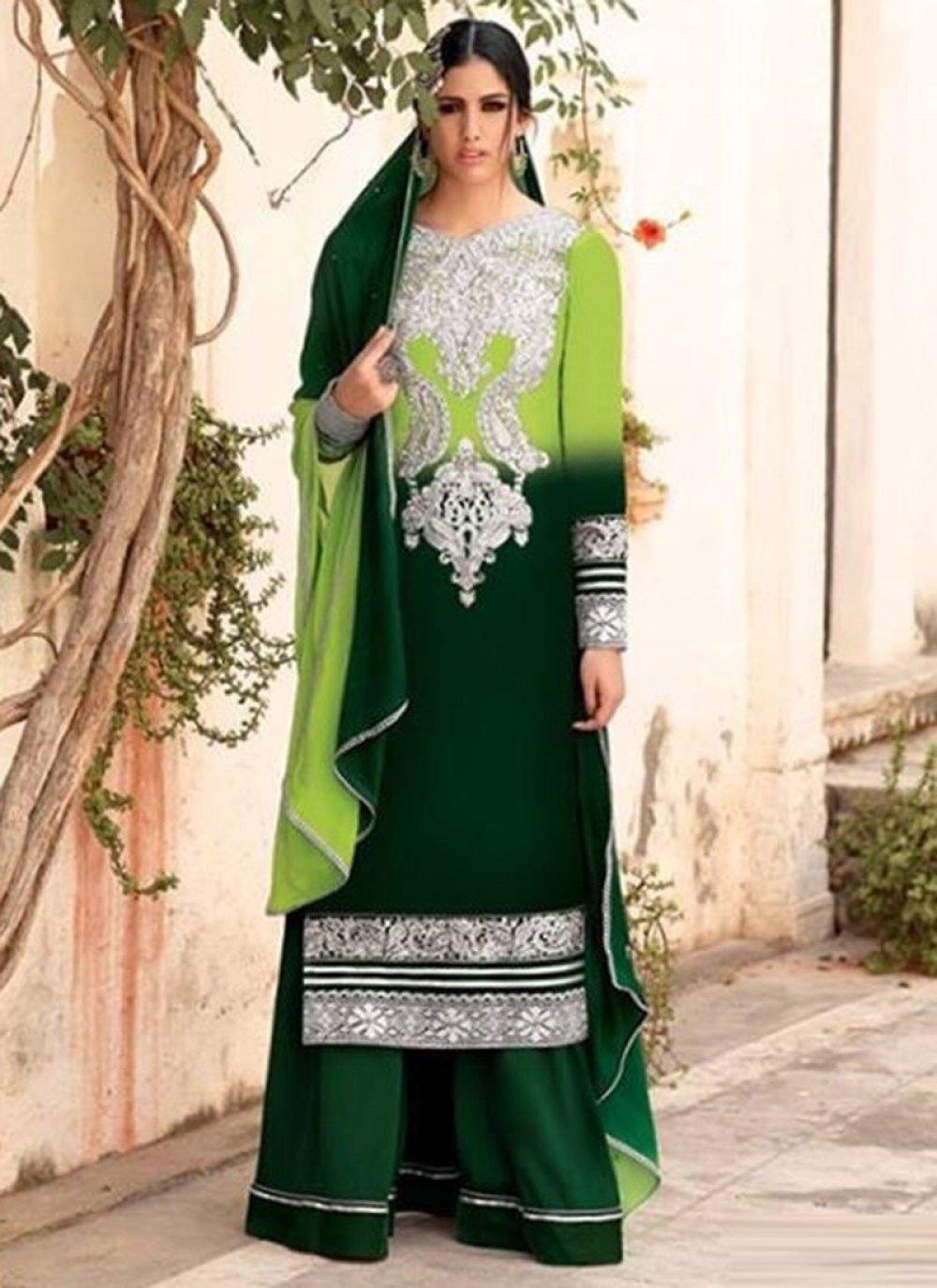 Green Velvet Pakistani Suit