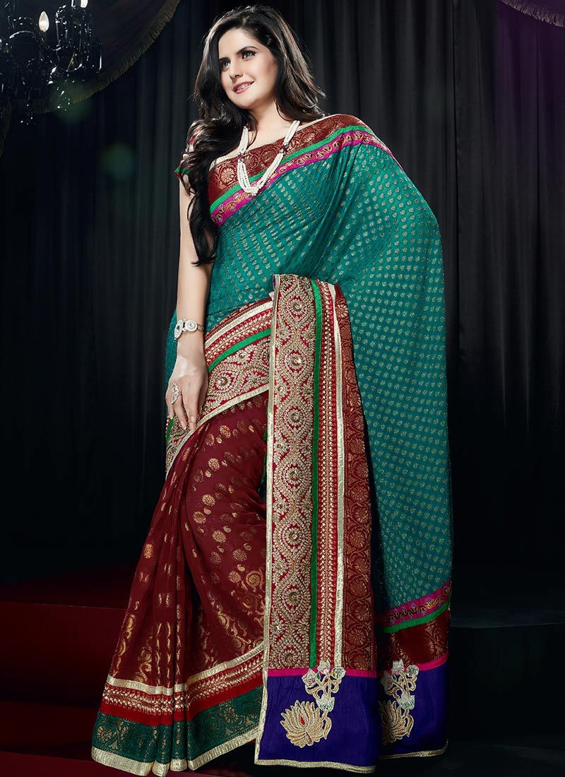 Heavy Patch Border Viscose Saree