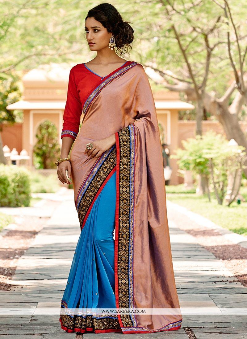 Georgette Resham Work Designer Saree