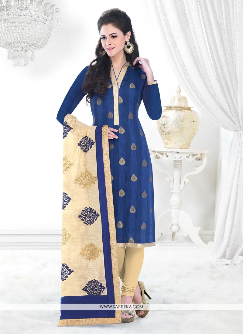 Blue Churidar Designer Suit