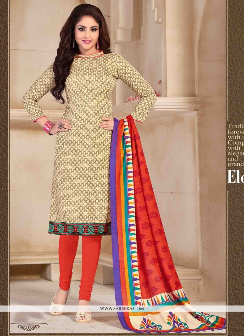 Print Work Banglori Silk Churidar Designer Suit