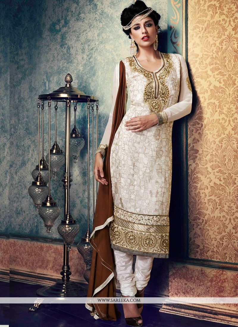 Zari Work Brasso Churidar Suit