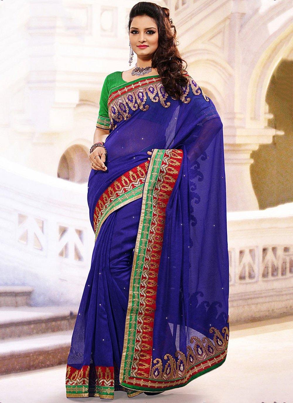 Imaginative Blue Linen Jute Silk Saree