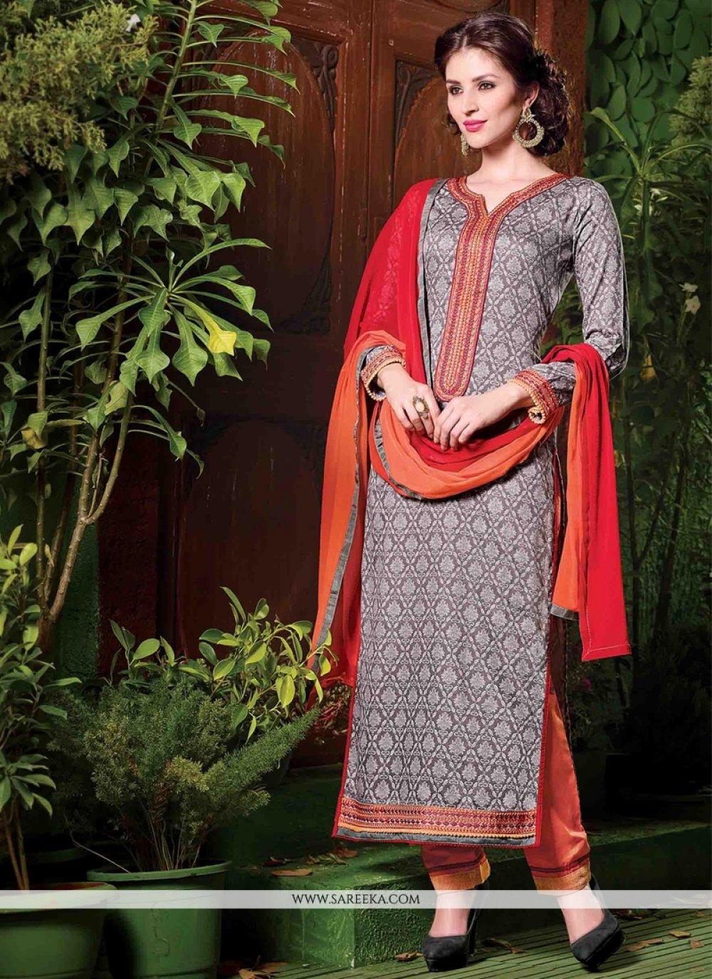 Embroidered Work Salwar Suit