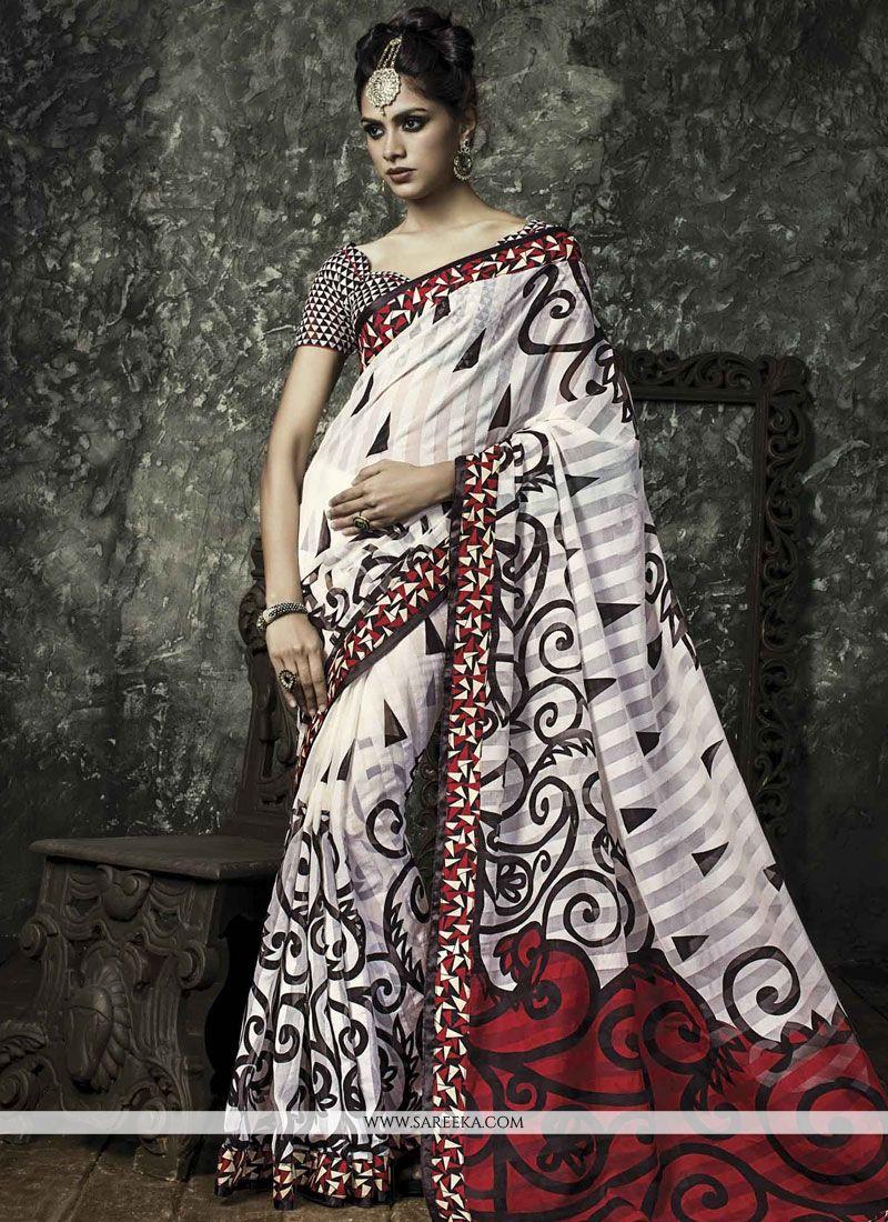Manipuri Silk Lace Work Casual Saree