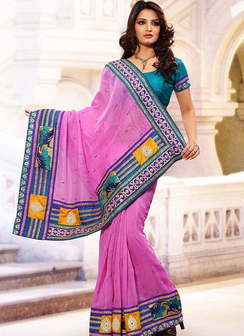 Hot Pink Linen Jute Silk Saree