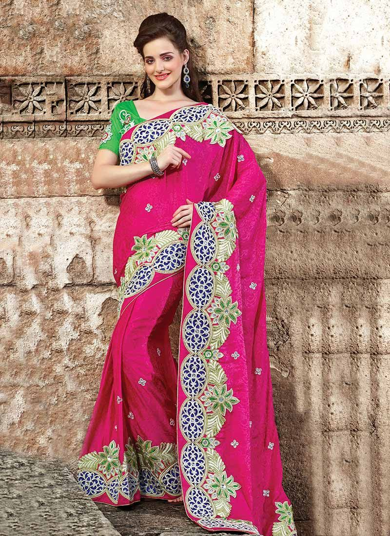 Pink Art Silk Party Wear Saree