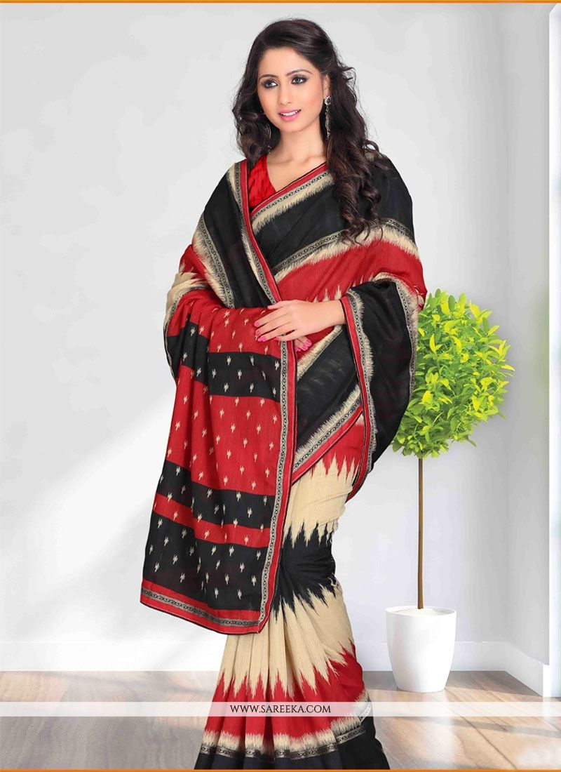Black Cotton   Casual Saree