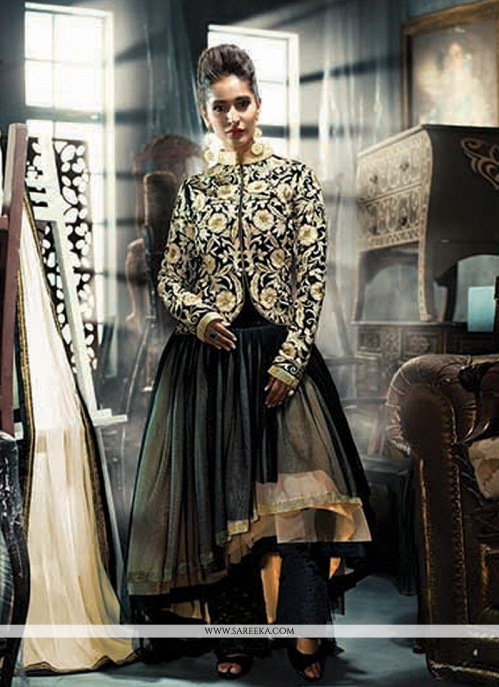 Embroidered Work Anarkali Suit