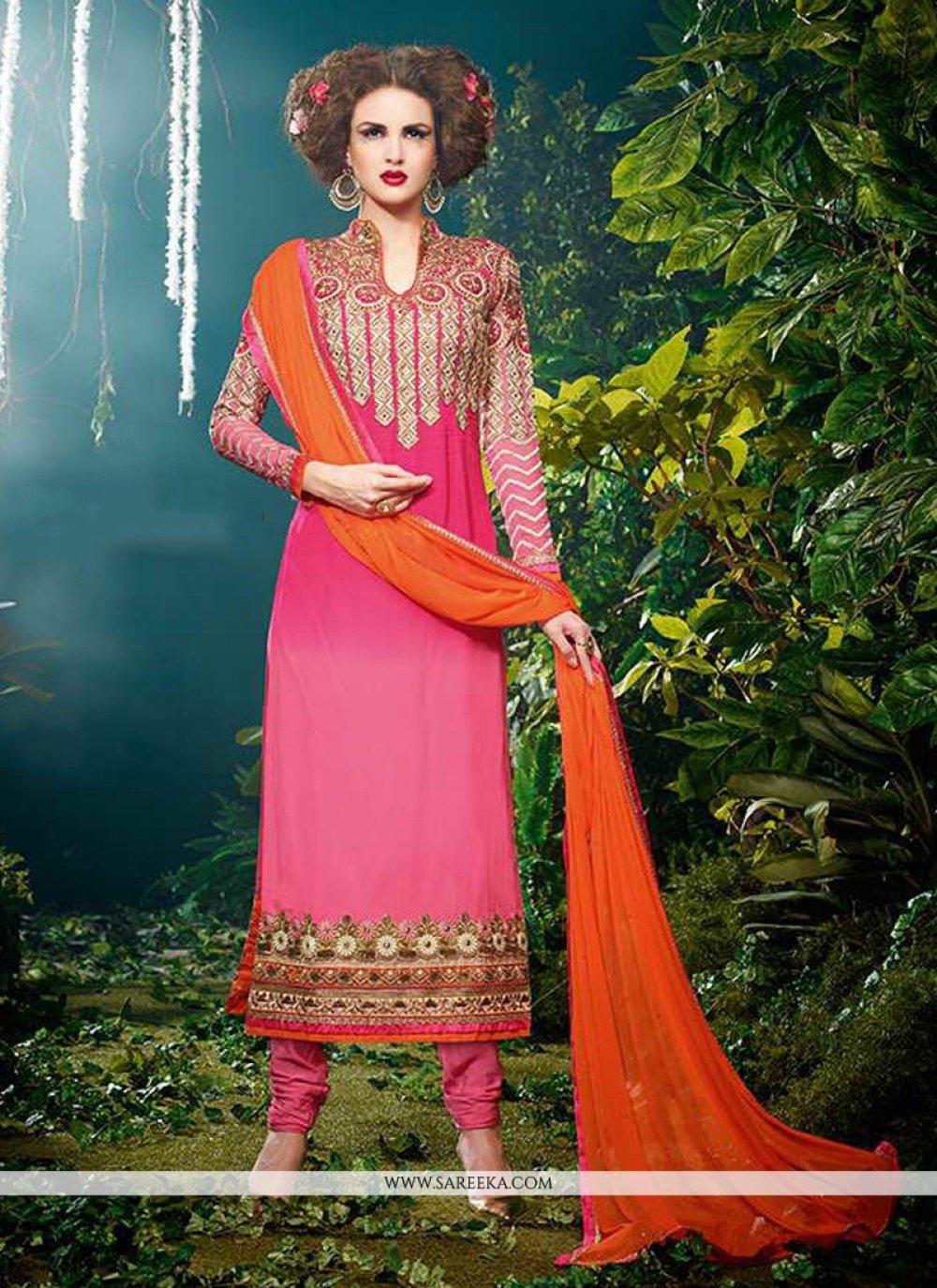 Zari Work Designer Straight Salwar Kameez