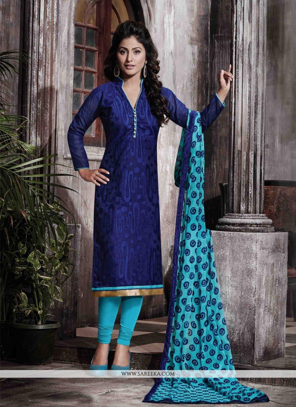Print Work Designer Straight Salwar Suit