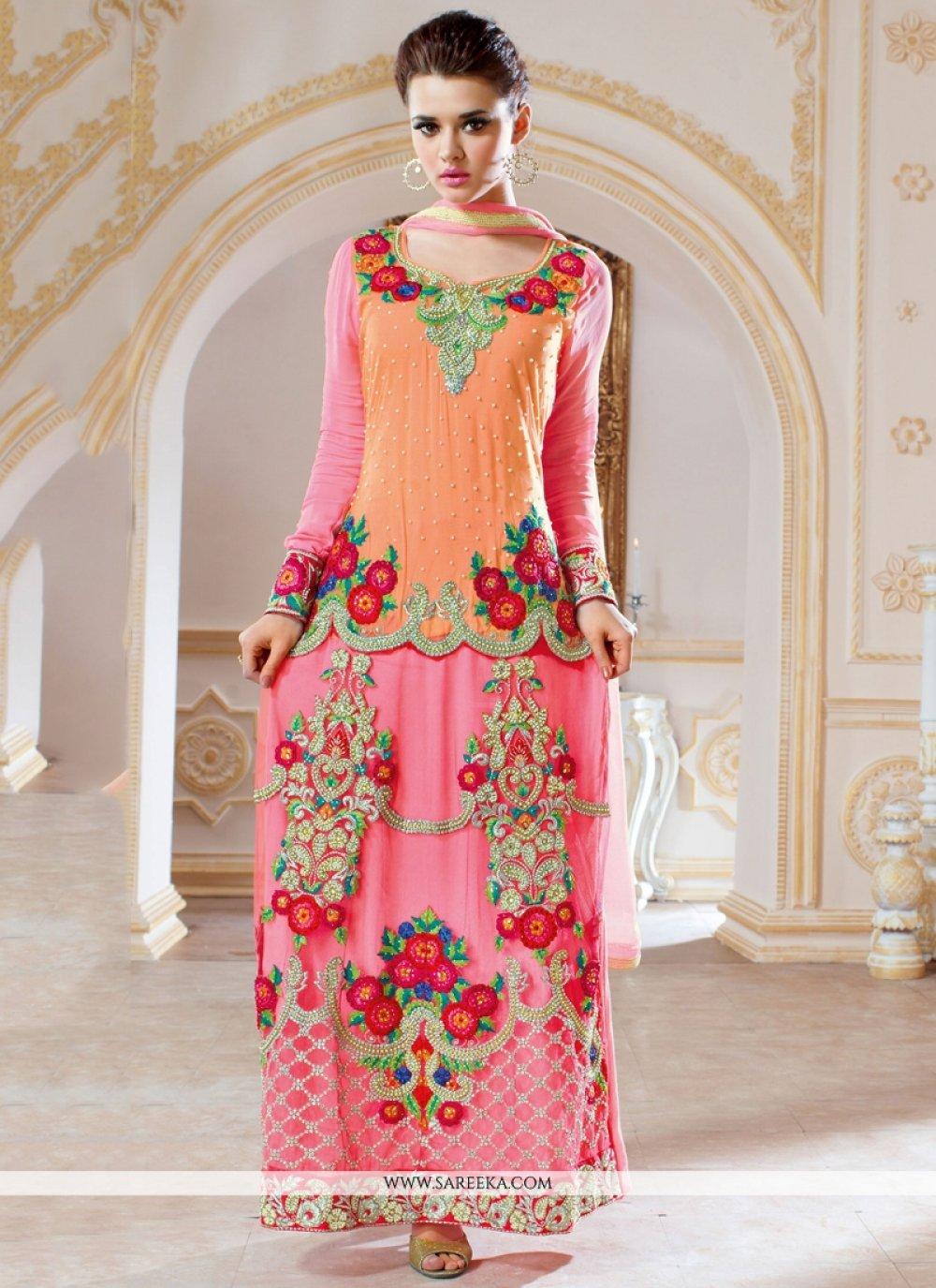 Resham Work Georgette Designer Salwar Kameez