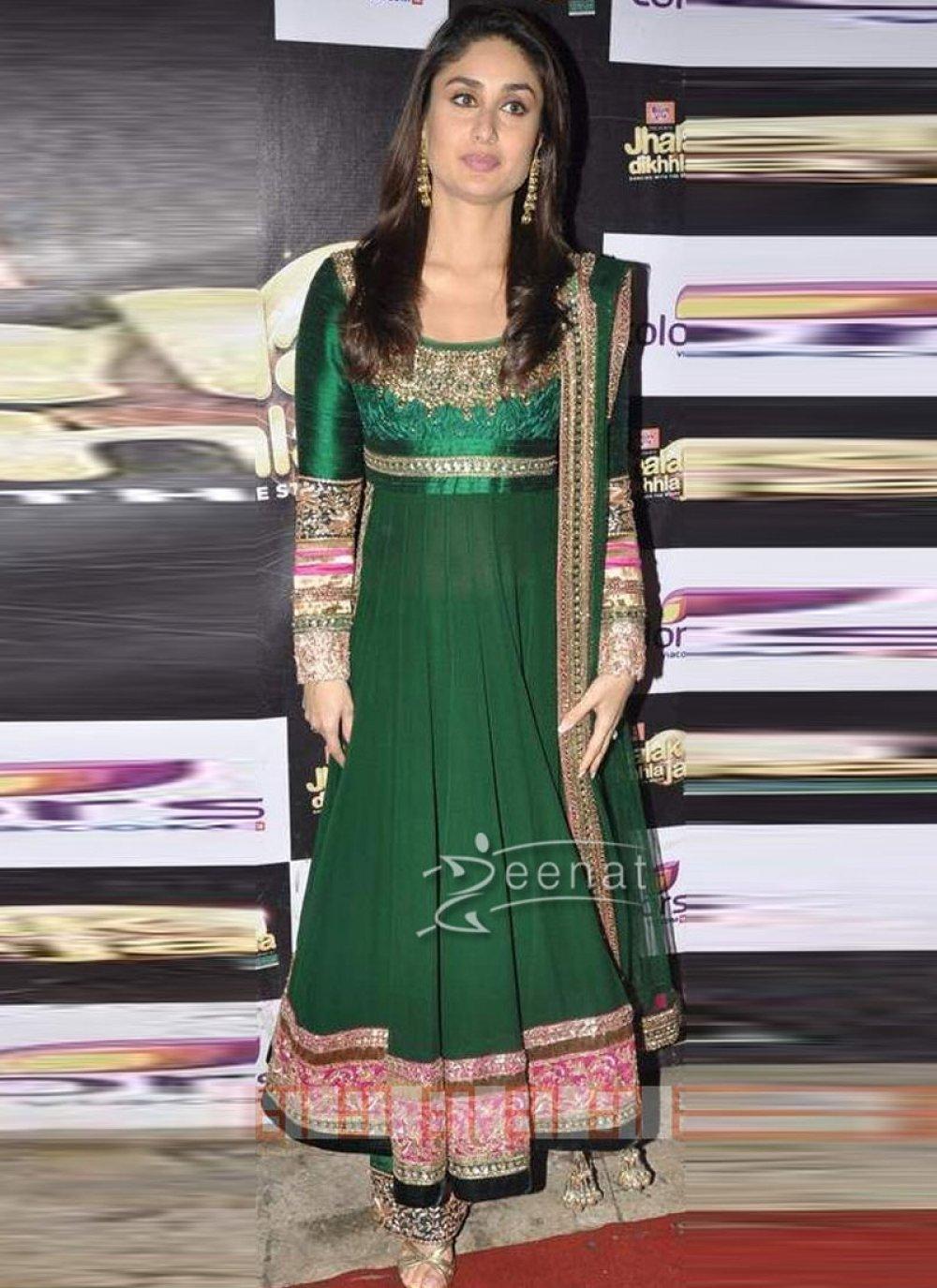 Kareena Kapoor Fancy Bottle Green Salwar Kameez