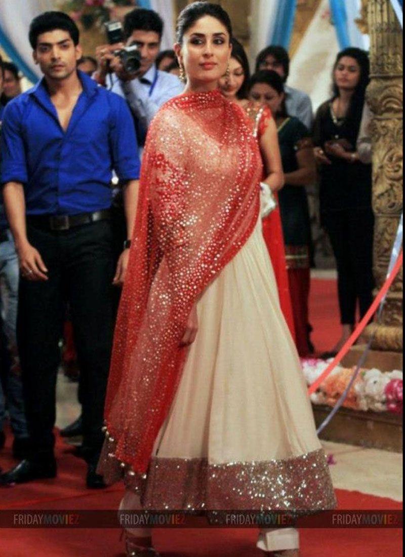 Kareena Kapoor Scintillating White Salwar Kameez