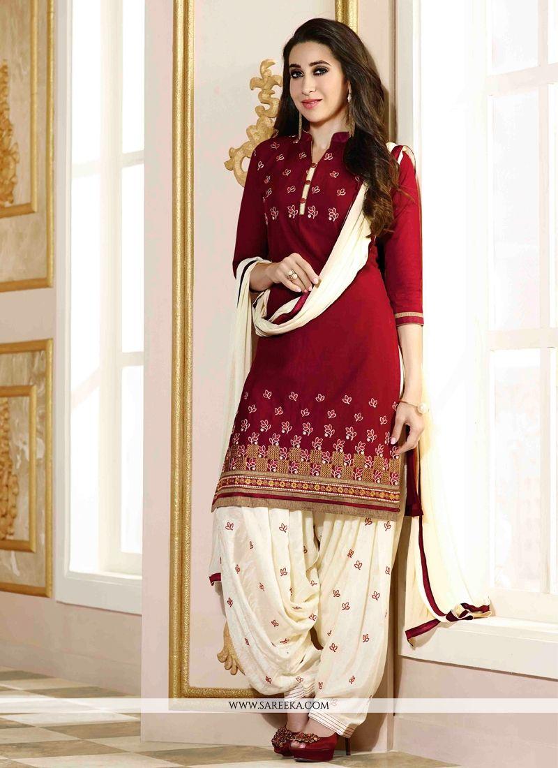 Karishma kapoor cotton designer patiala suit - Beautiful dizain image ...