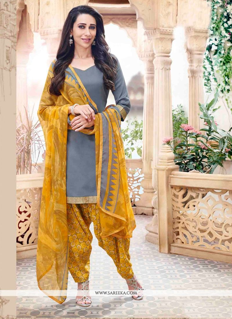 Karishma Kapoor Cotton   Designer Patila Salwar Suit