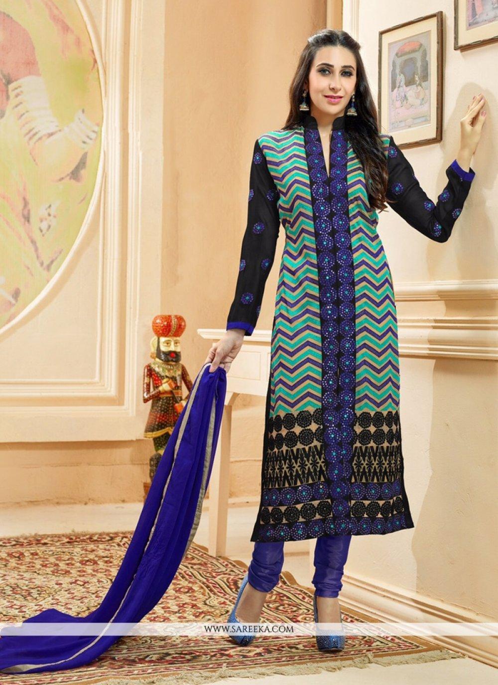 Karishma Kapoor Georgette Resham Work Churidar Salwar Kameez