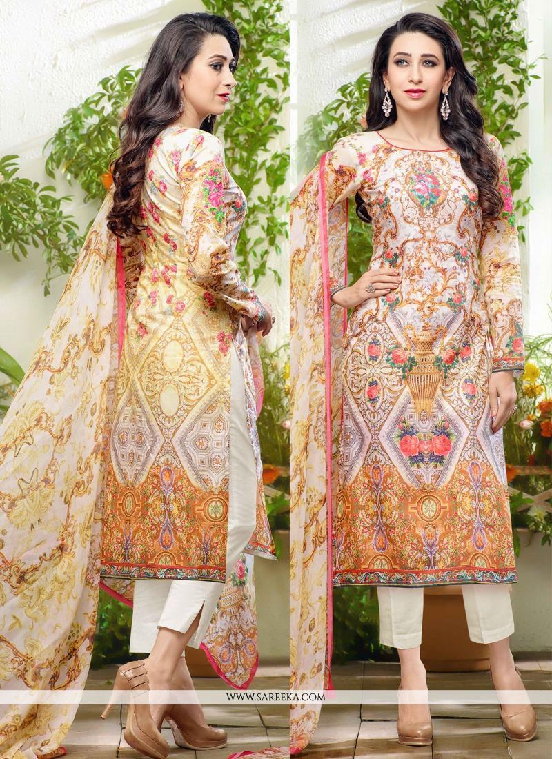 Karishma Kapoor Multi Colour Chiffon Satin Designer Suit