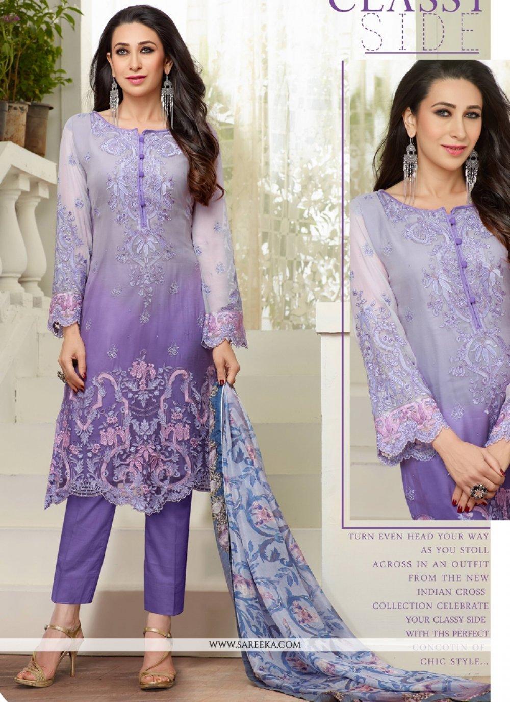 Karishma Kapoor Resham Work Designer Salwar Suit