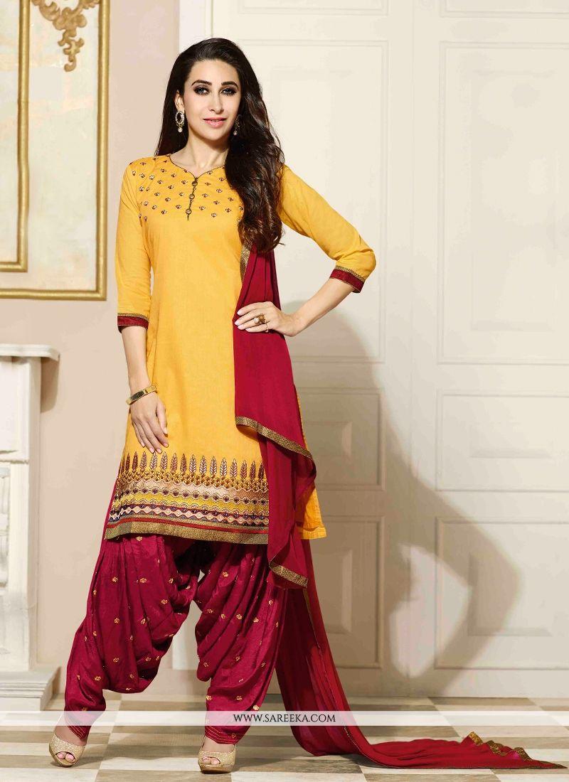 Karishma Kapoor Yellow Designer Patiala Suit