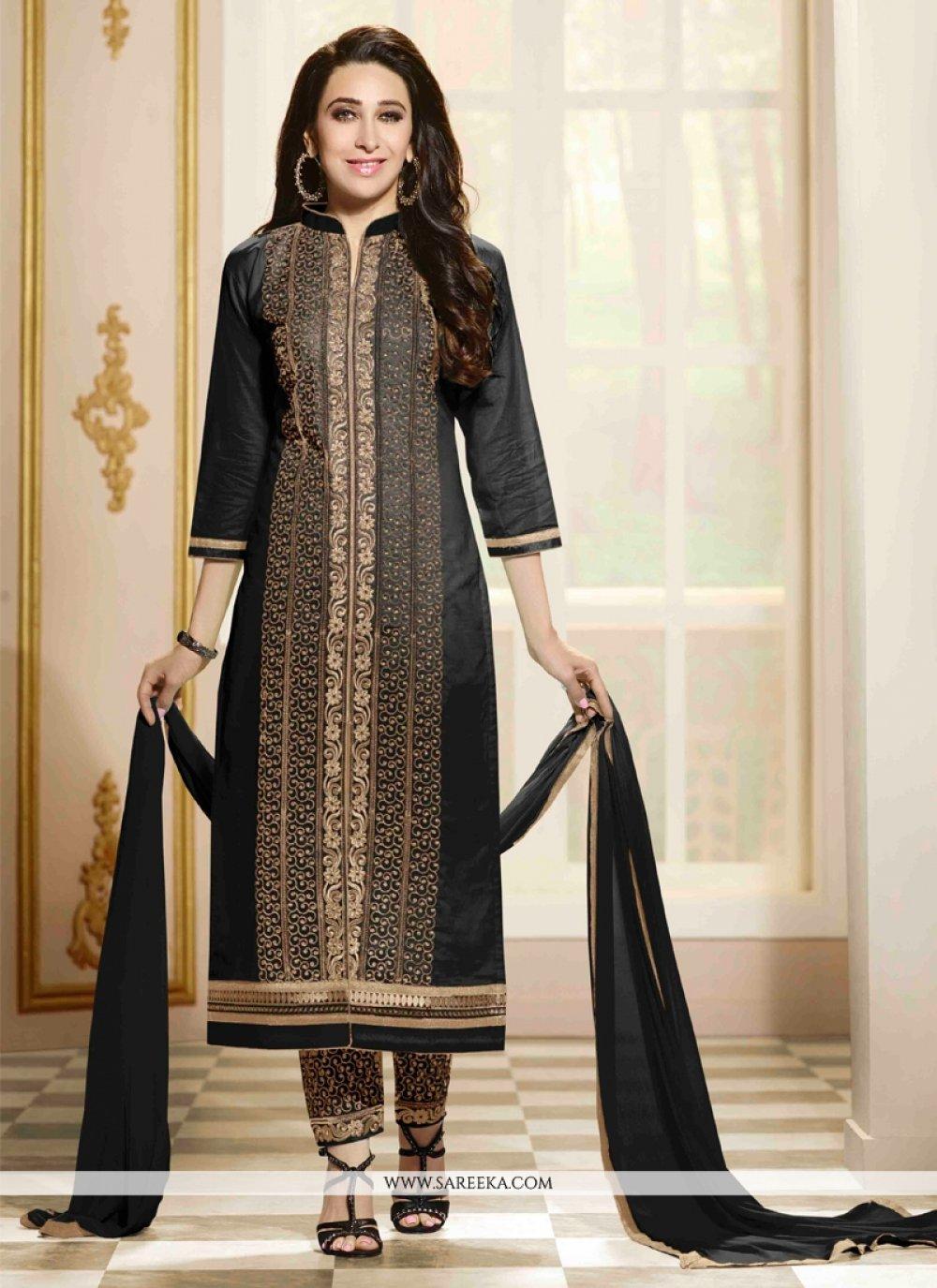 Karishma Kapoor Zari Work Cotton   Designer Straight Suit
