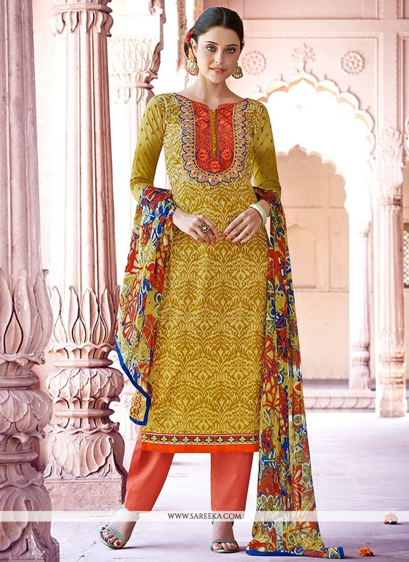 Cotton   Print Work Designer Pakistani Suit