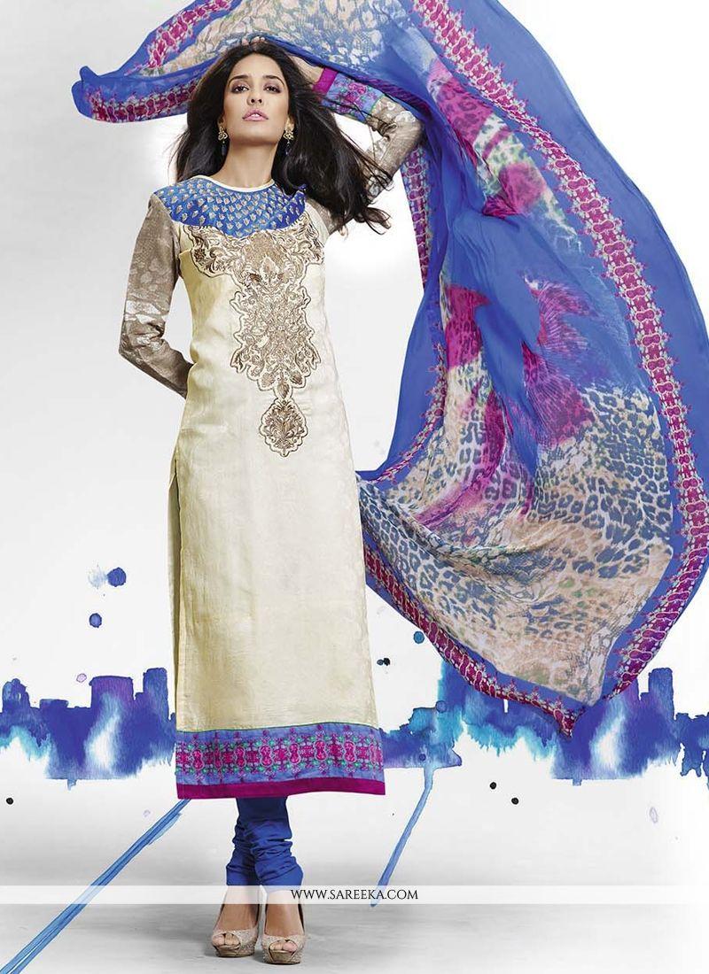 Lisa Haydon Cut Work Churidar Salwar Kameez