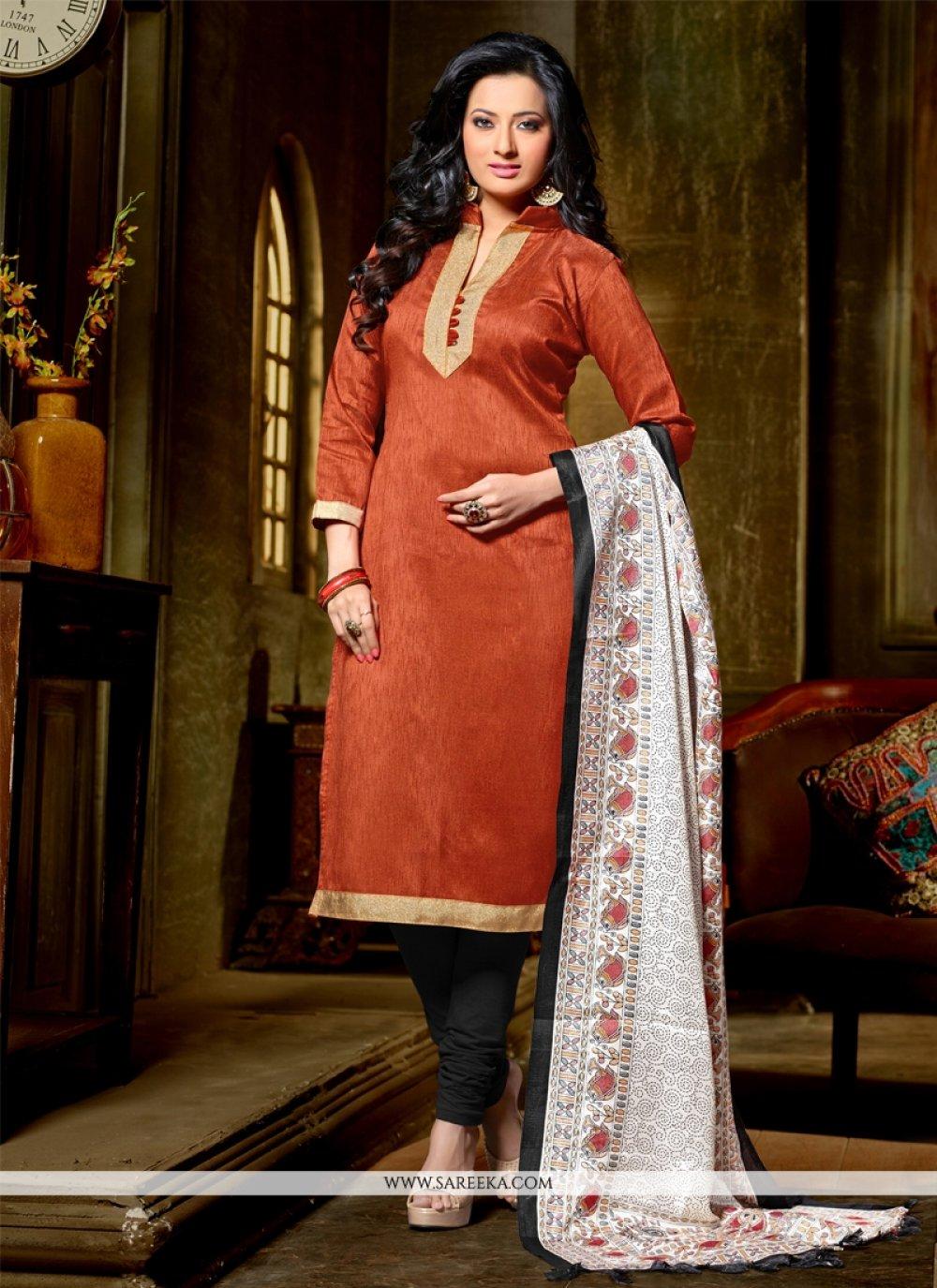 Banglori Silk Lace Work Churidar Designer Suit