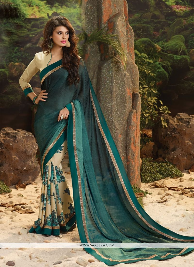 Jacquard Lace Work Casual Saree