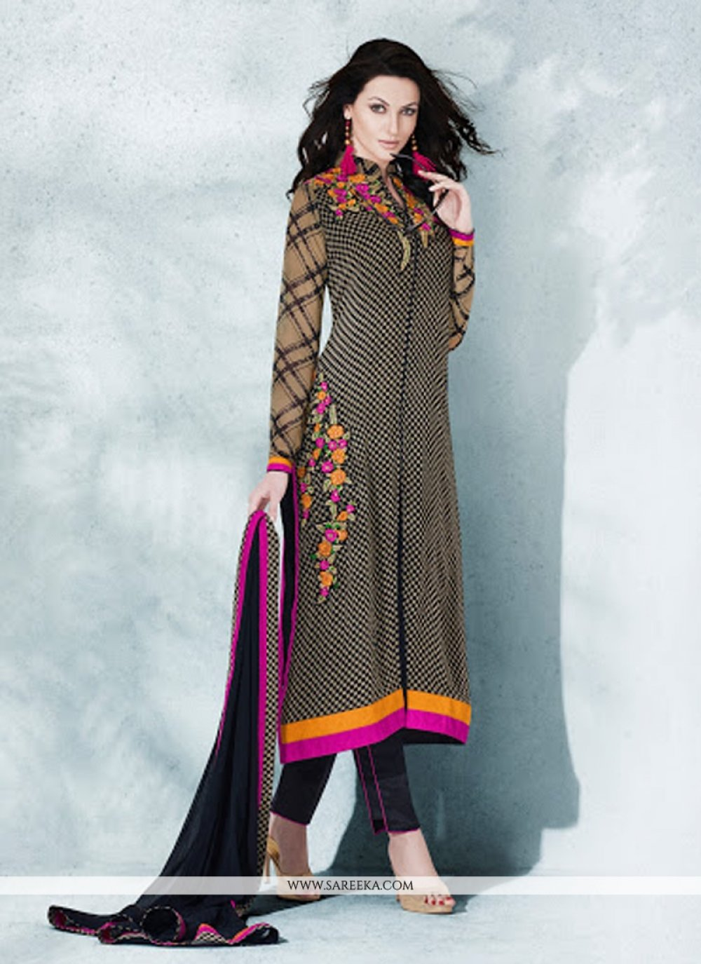 Lordly Georgette Resham Work Designer Suit