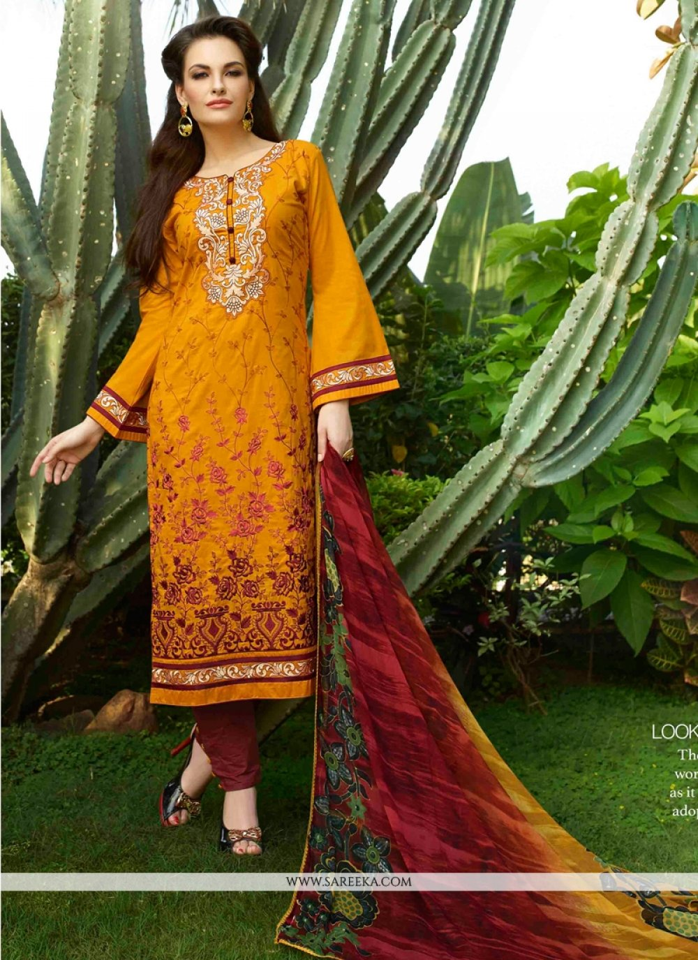Resham Work Yellow Churidar Designer Suit