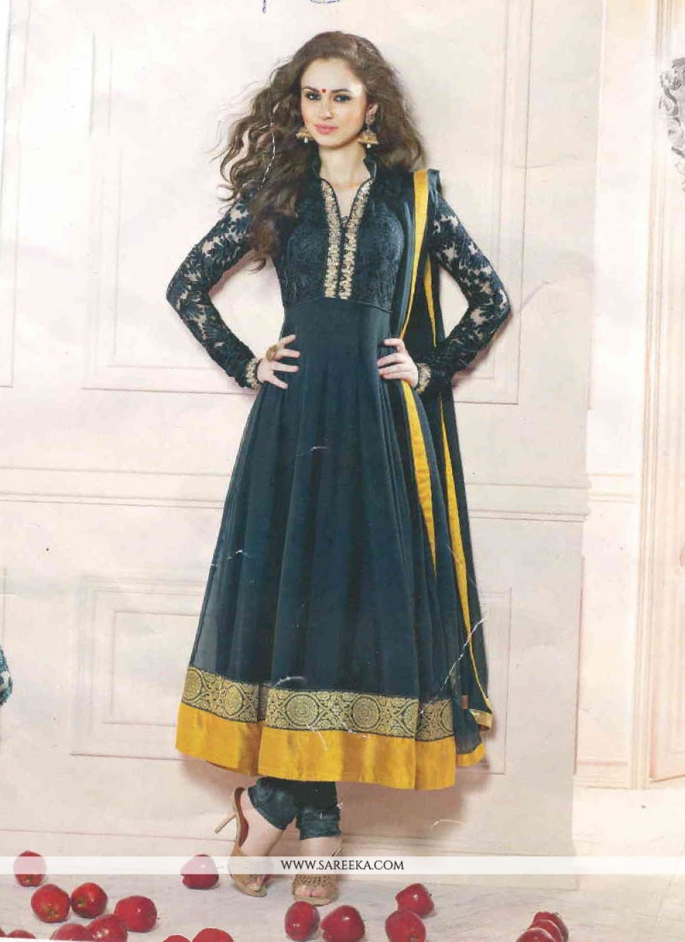 Black Emnroidery Anarkali Salwar Suit