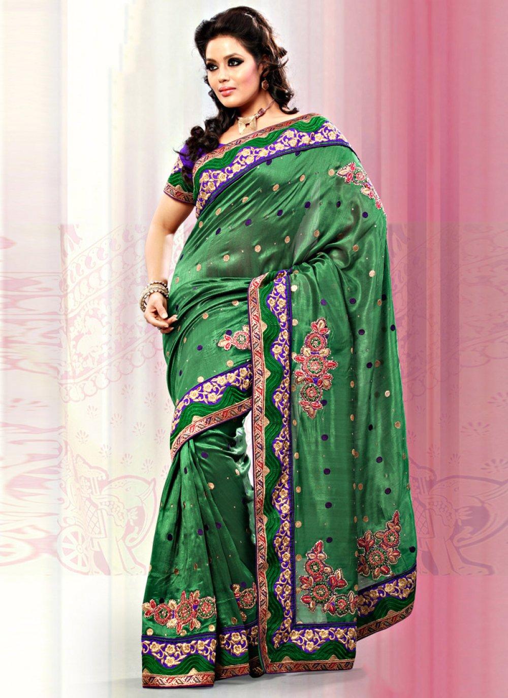 Green Art Bhagalpuri Silk Saree