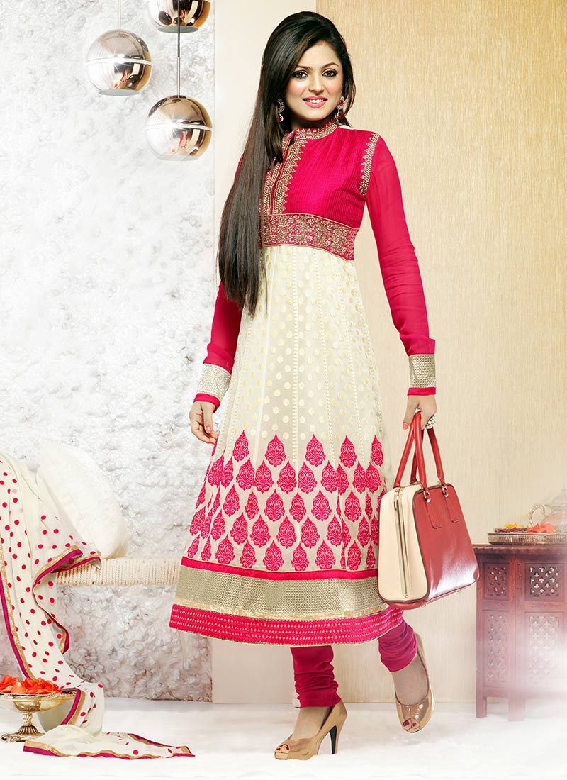 Madhubala Cream Churidar Suit