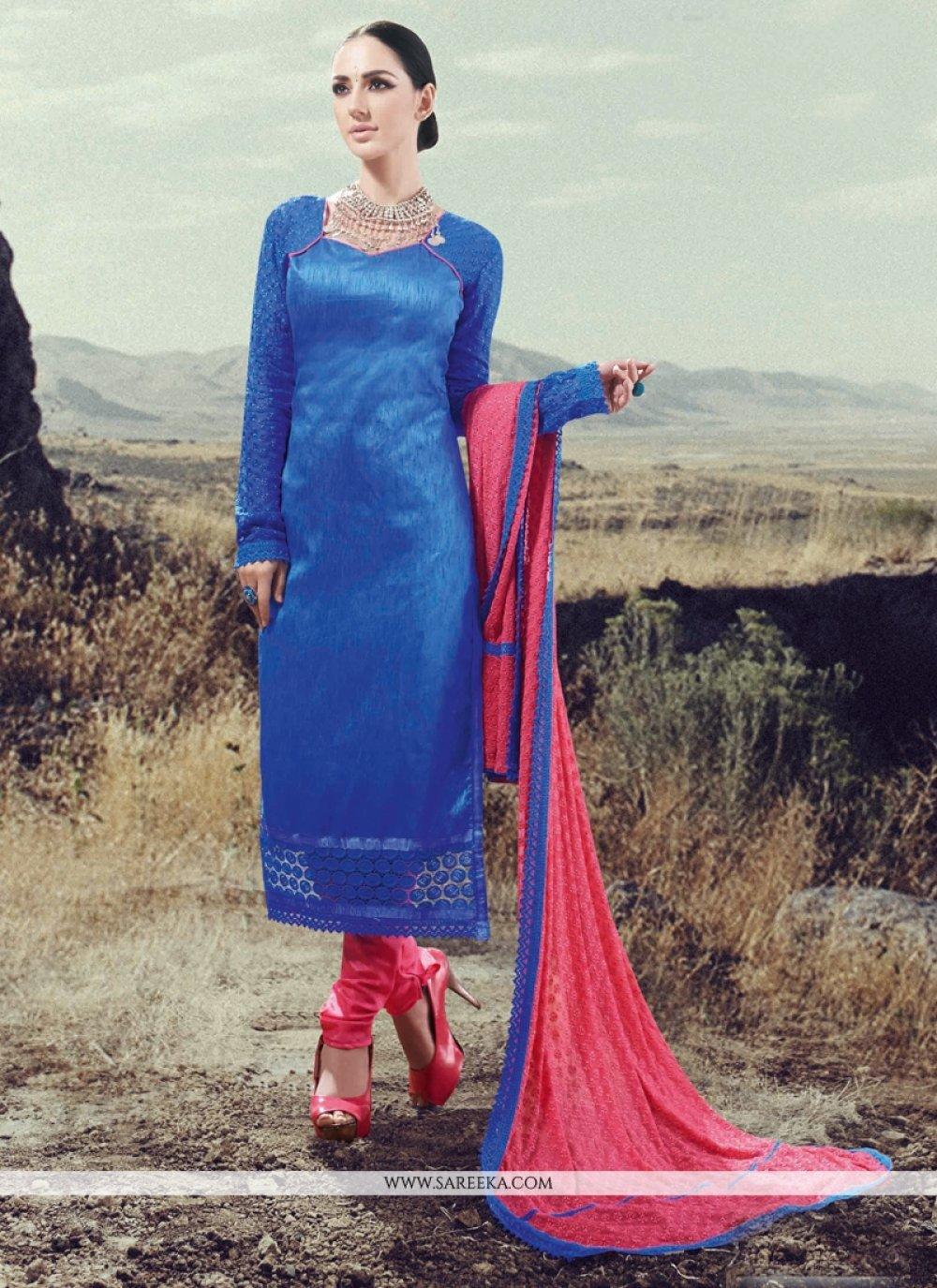 Silk Designer Straight Salwar Suit