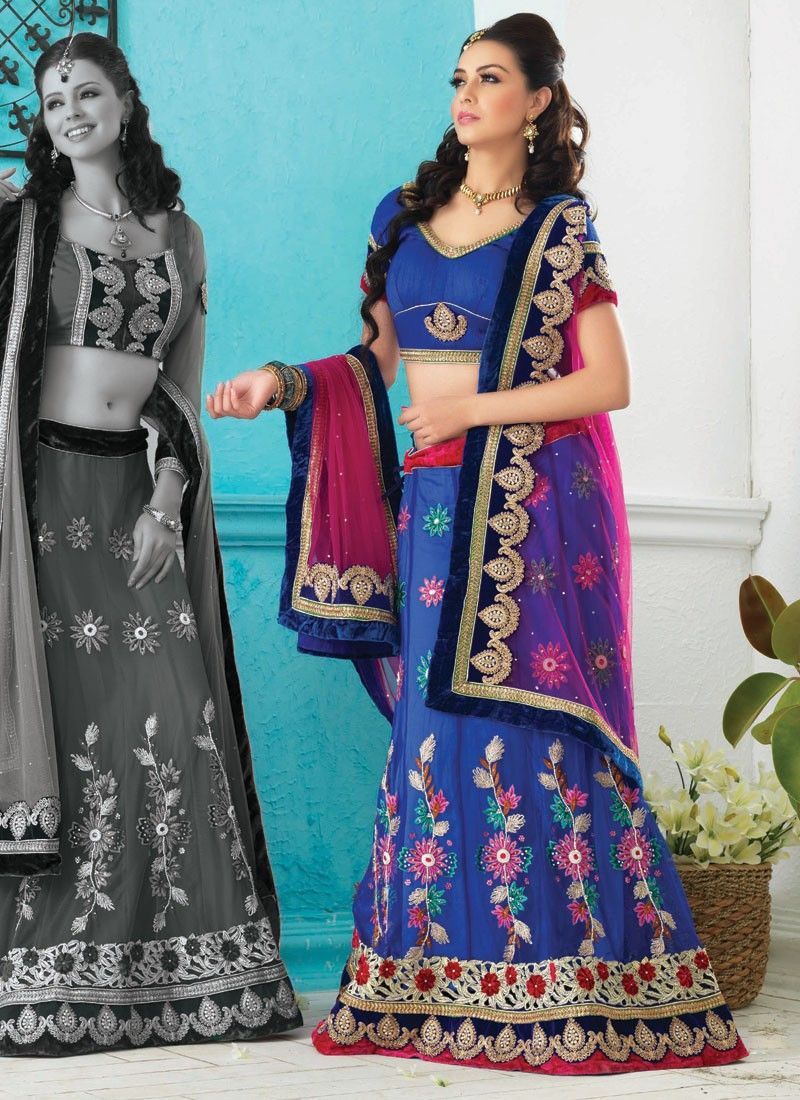 Luscious Deep Blue Lehenga Choli